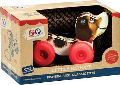 Fisher-Price LITTLE SNOOPY Dog Beagle Classic Pull Toy FP 1650 Mattel NEW NIB #FisherPrice
