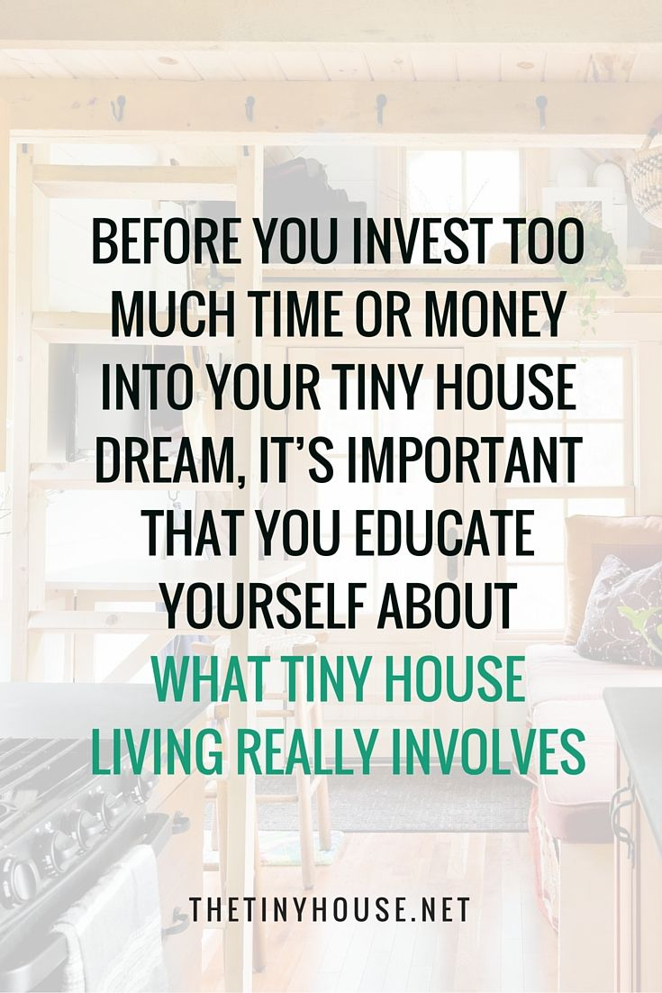 Why Tiny House Living Might Not Be For You | Tiny Houses, House And Tiny  Living