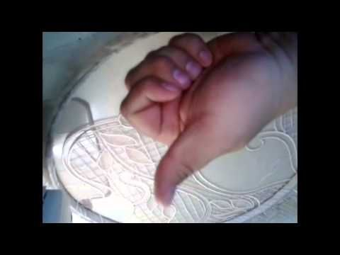 Bordado Artesanal a Maquina - YouTube - Vintage Machine Embroidery - watch a delicate dress come together
