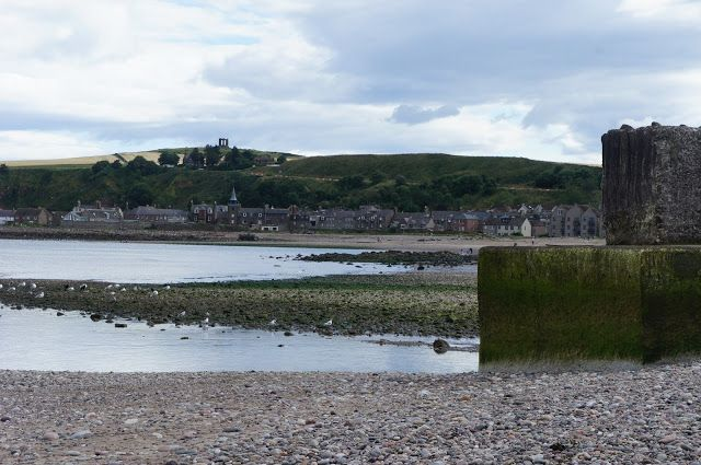 By the sea. Stonehaven Beach, Aberdeenshire, Scotland.