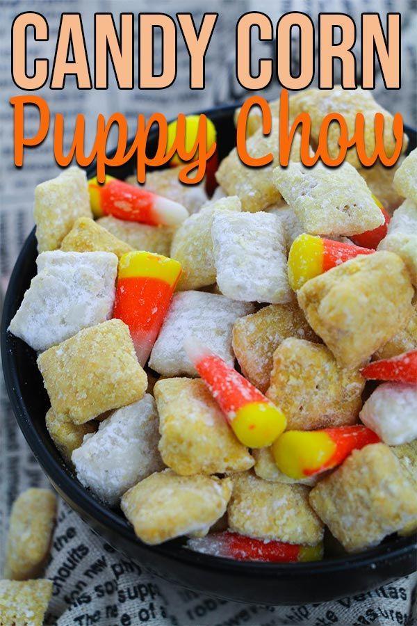 Easy Fall Candy Corn Puppy Chow Recipe Recipe Puppy Chow Chex Mix Recipe Chex Mix Recipes Puppy Chow Recipes