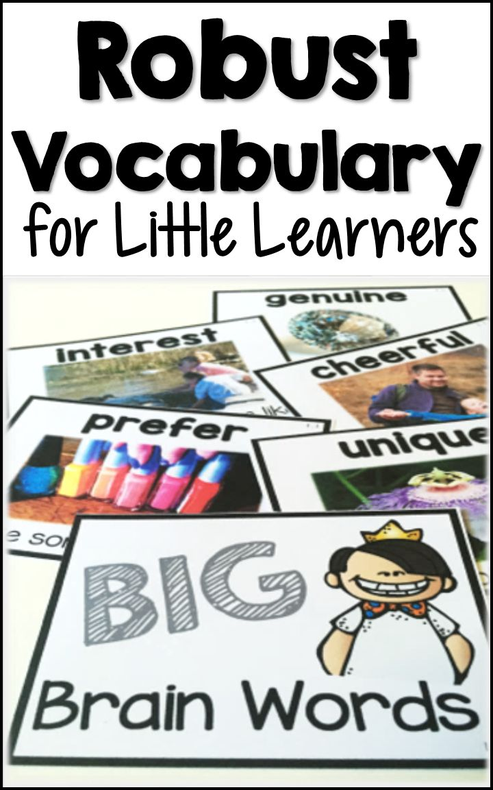 Build essential vocabulary weekly with BIG Brain Words! Purposeful, embedded instruction and experiences with rich vocabulary through hands-on, interactive activities have helped our students immensely this school year!