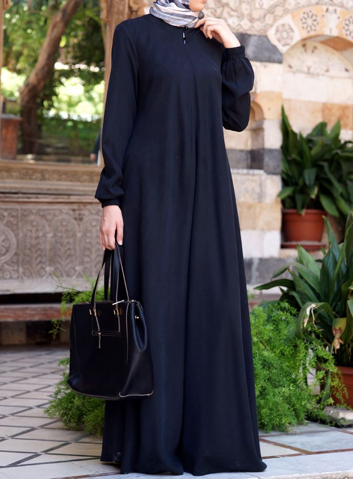 "Tencel Flared Abaya by Shukr Clothing - $109.95 // This comes in an ""easy care"" wrinkle resistant version too but I prefer the natural cloth. This would be perfect for an everyday abaya and could be styled so many different ways!!! <3"