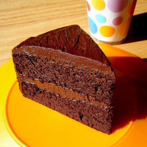 Healthy Chocolate Cake - No Sugar, No Flour