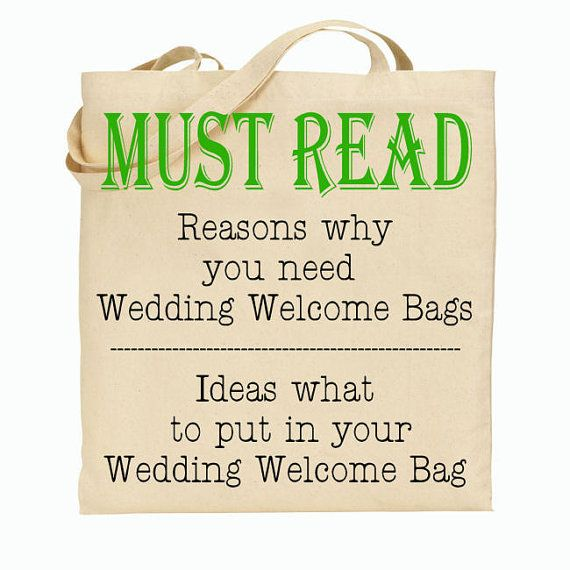 Gifts For Out Of Town Wedding Guests: Why You Should Have Wedding Welcome Tote Bags At Your