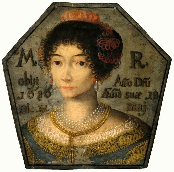 Coffin portrait of a young woman by Anonymous Polish Painter, 1686 (PD-art/old), Muzeum Narodowe w Krakowie (MNK)