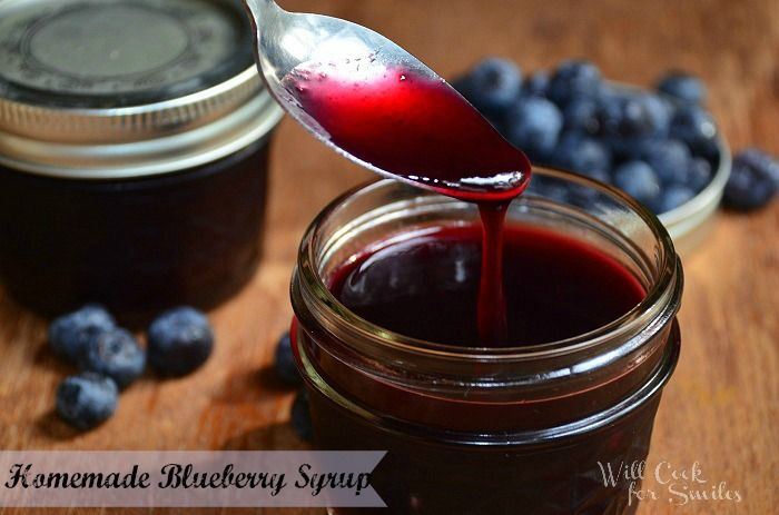Blueberry syrup! Great for gluten-free pancakes, waffles, cheesecake, EVERYTHING!
