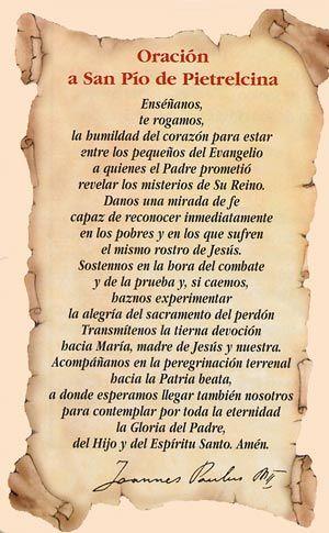 Oración a Padre Pío