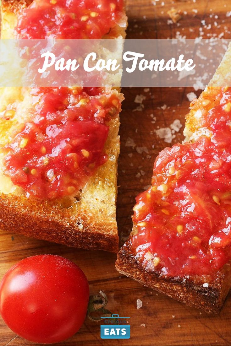 Fresh tomatoes, olive oil, garlic, salt, and bread are all you need.