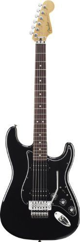 Fender Blacktop(TM) Strat® HH Floyd Rose® Electric Guitar, Black, Rosewood Fretboard by Fender. $499.99. Drive your sound with raw humbucking power. Fender's new and innovative Blacktop™ guitar series expands the sonic horizon of classic Fender Stratocaster®, Telecaster®, Jazzmaster® and Jaguar® guitars by powering them with high-gain humbucking pickups. The Blacktop series delivers on modern player demands for a thick and heavy sound with guitars that driv...