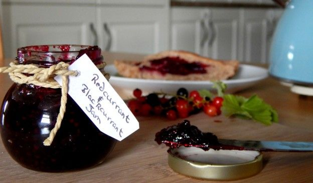 Redcurrant and Blackcurrant Jam Recipe.  A fantastic mixed fruit condiment! Especially delicious on toast!