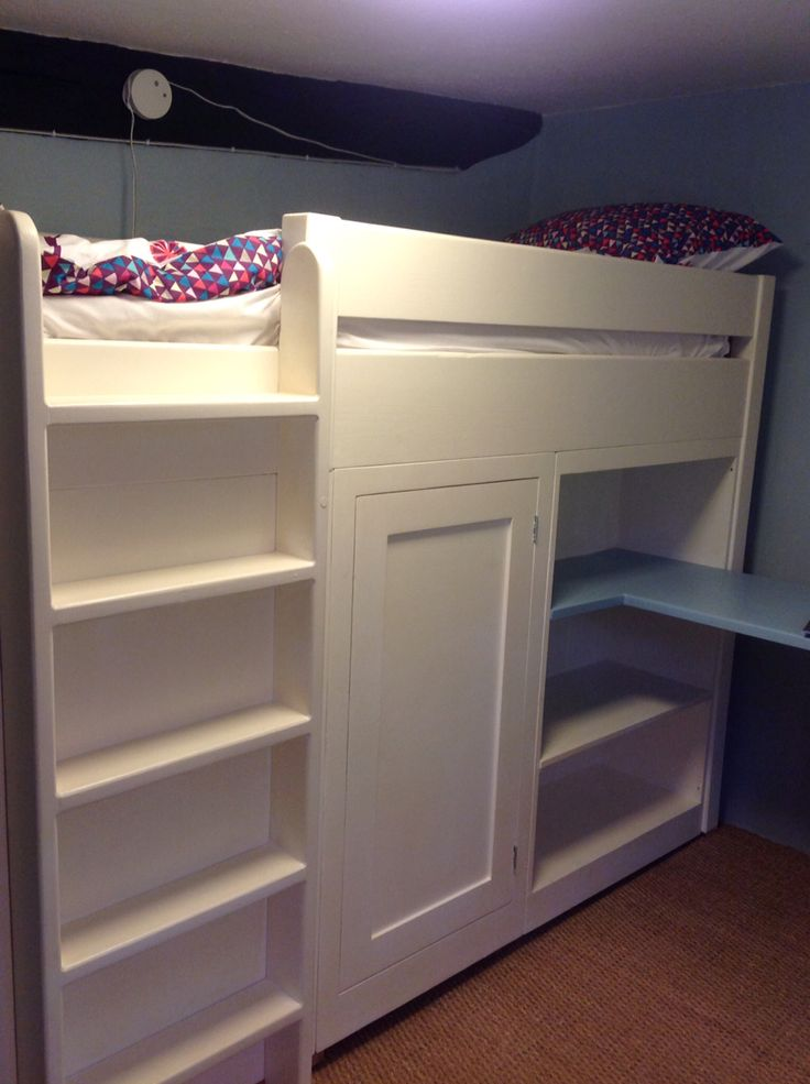 A bespoke cabin bed maximises room in even the smallest of bedrooms. A bed,