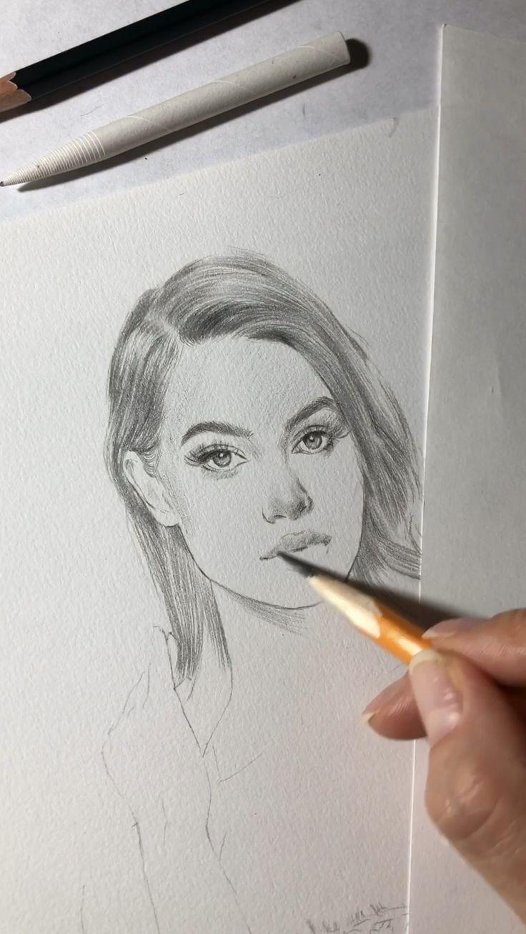 Drawing a beautiful girl in lingerie outfit. Photo credit: Meshki. #drawing #meshki #howtodraw #art
