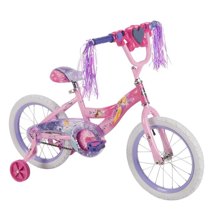 Disney Princess 16-Inch Tire Magic Mirror Bike with Training Wheels by Huffy, Pink