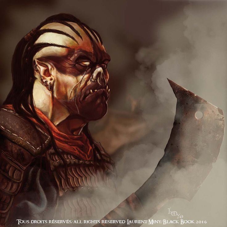 Heroes and dragons Orc concept art Black Book ed
