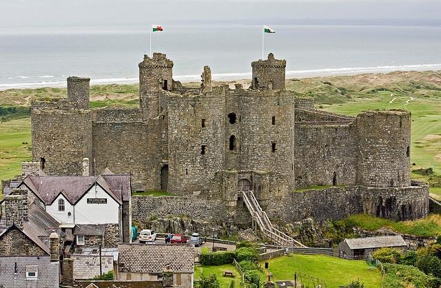 Harlech castle in Wales.
