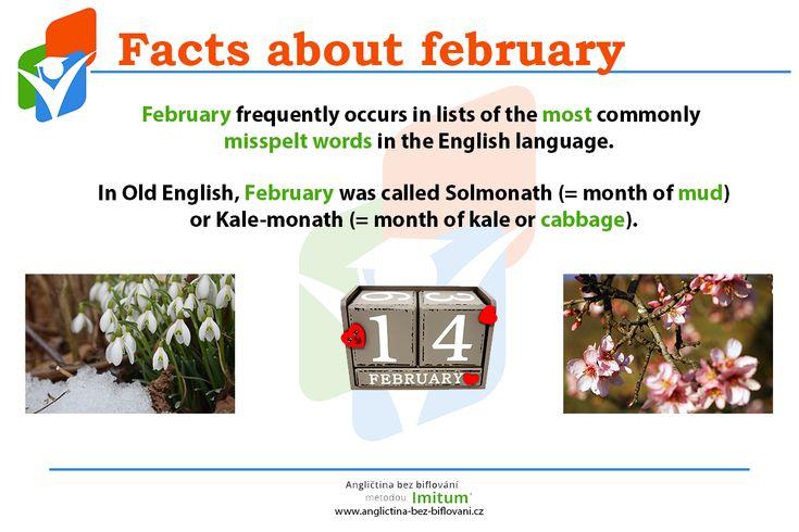 Začněme nový měsíc zajímavými fakty, které jste o něm možná nevěděli. A samozřejmě v angličtině!  #February #Month #Facts #English #Anglictina #AnglictinaBezBiflovani