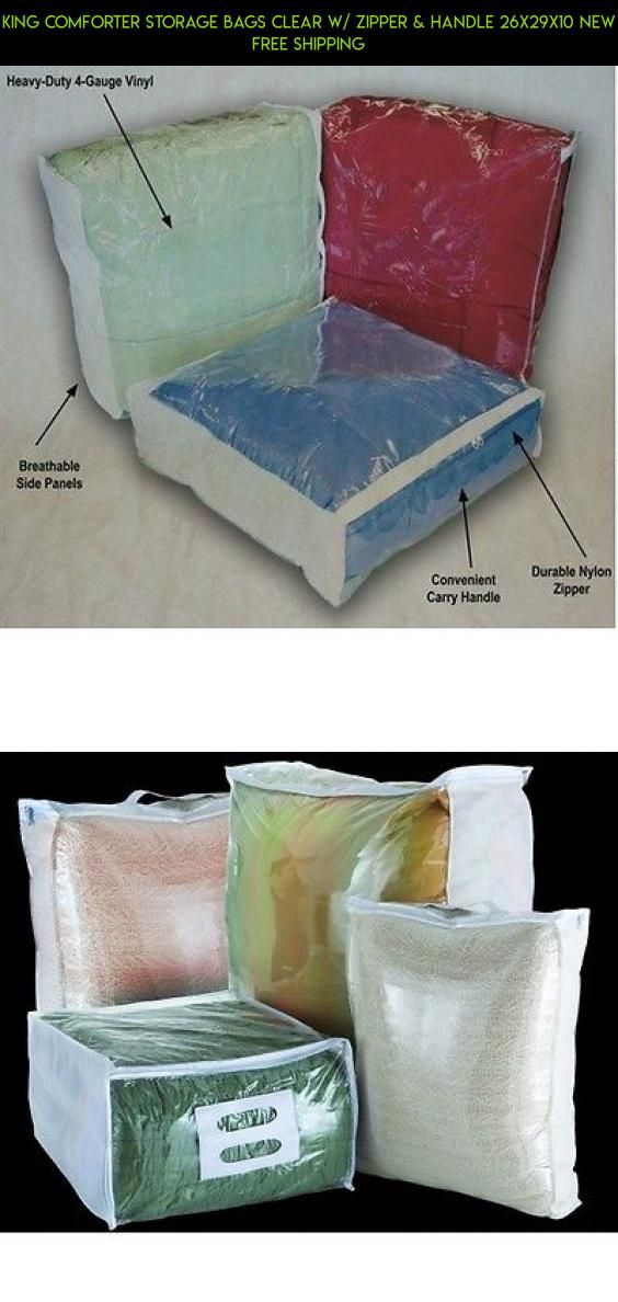 King Comforter Storage Bags Clear w/ Zipper & Handle 26x29x10 NEW FREE SHIPPING #fpv #plans #tech #shopping #racing #camera #gadgets #parts #storage #technology #drone #products #kit #bags #zipper