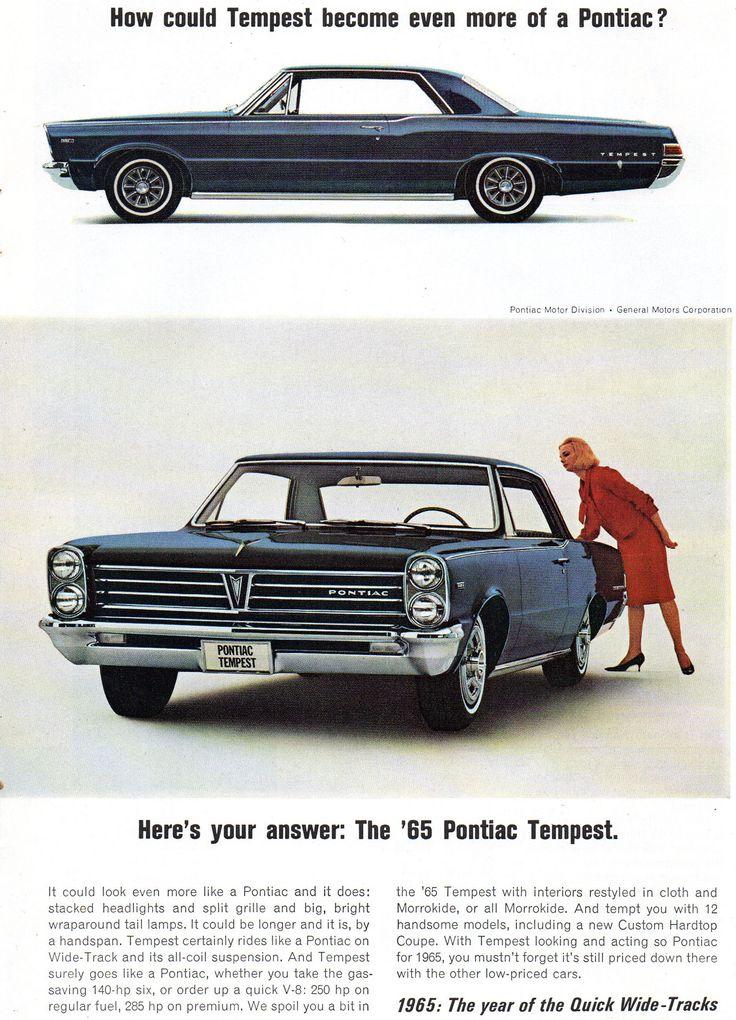 https://flic.kr/p/21Nzhdw   1965 Pontiac Bonneville Convertible & Tempest 2 Door Hardtop Page 2 USA Original Magazine Advertsement