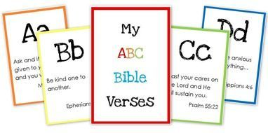 Printable ABC Bible verse flash cards ~ a full set of scripture verses for every letter of the alphabet!