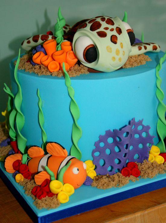 Best Finding DoryNemo Themed Cake Ideas Images On Pinterest - Finding nemo birthday cake