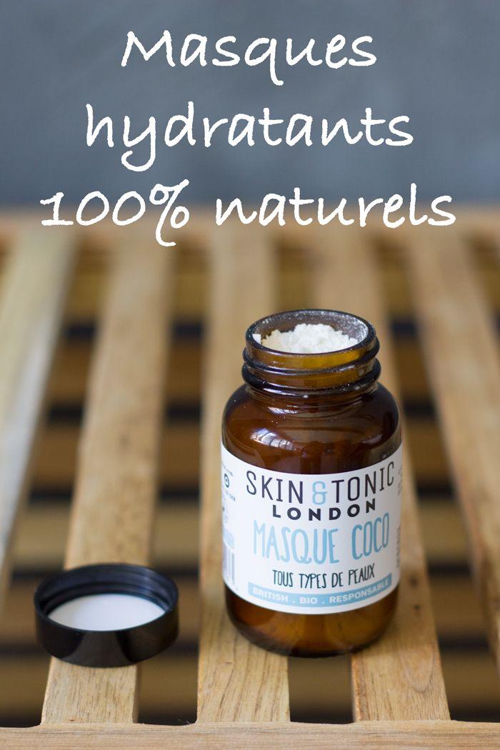 Quatre masques hydratants originaux, 100% naturels et bio