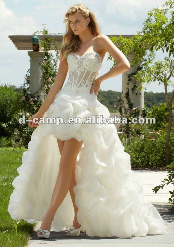 Wd 696 new arrival see through corset wedding dress front for See through corset top wedding dress