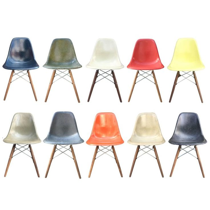 10 Multicolored Herman Miller Eames Dining Chairs | From a unique collection of antique and modern dining room chairs at https://www.1stdibs.com/furniture/seating/dining-room-chairs/