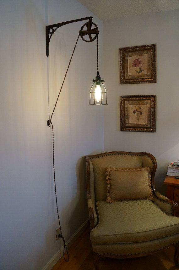 Vintage Wall Mount Industrial Light by TheHomesteadHandyman