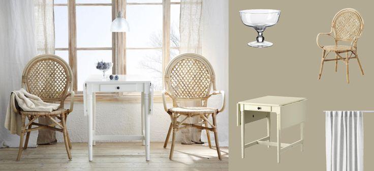 Mesa abatible ingatorp blanca para 2 4 personas con sillas - Ikea mesa blanca ...