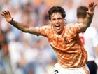 Marco van Basten - Celebrating after an unbelievable goal during the 1988 European Championship