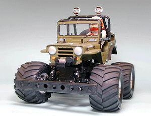 The Tamiya Wild Willy 2 in 1/10th scale is a reproduction of the popular original Willd Willy from the mid 80s.  The new Wild Willy radio control kit has an all new chassis and larger tyres allowing it to tread over rough terrain. Of course the Tamiya Wild Willy 2's trade mark is the animated wheelie capability thanks to an all new wheelie bar. This radio control car is a must for all off road R/C enthusiasts.