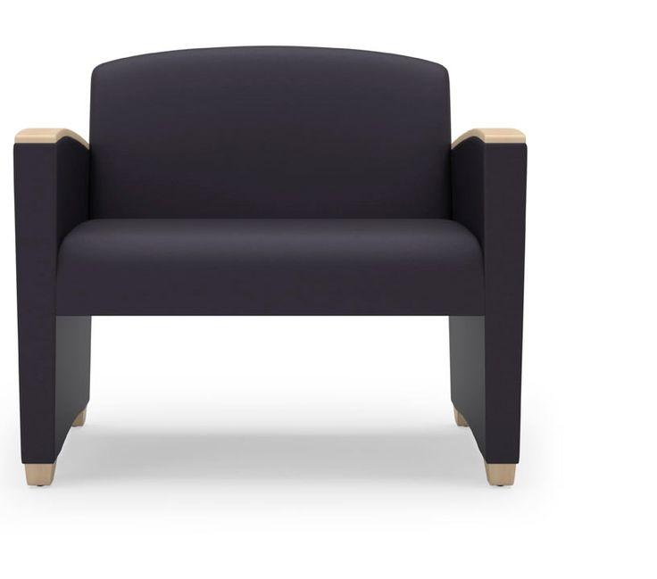 Lesro Savoy Series Bariatric Reception Chair 750 lb. Capacity (LS-G1801G4)