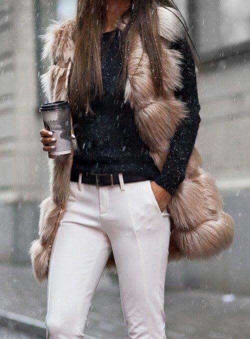 Furry vest.