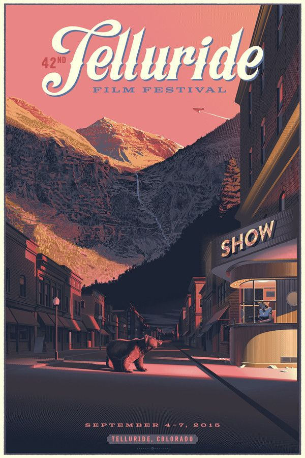 42nd Telluride Film Festival Poster by Laurent Durieux. $40 on the Telluride shop.