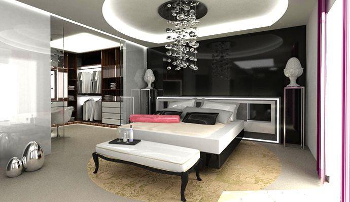 Decoracion dormitorios y habitaciones de lujo decoracion for Cielos falsos para dormitorios