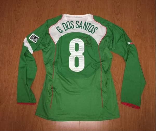 選手支給 直筆サイン #8 FCバルセロナ メキシコ代表 U-17 FIFA WORLD championship PERU 2005 ジョバニ・ドス・サントス 選手_画像1
