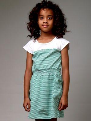 Buy Littlehorn Candy Dress Green Stripe