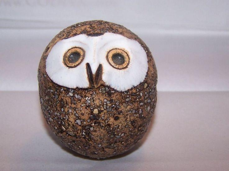 Rare 1950s Kaarina Aho, Finland, Arabia Art Pottery Stoneware Baby Owl