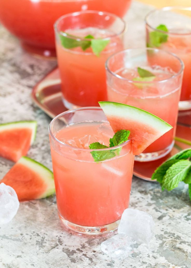 This Watermelon Gin Punch is the perfect batch cocktail for your next gathering! #gindrinks