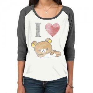 San-X Rilakkuma Tshirt: I Love Rilakkuma