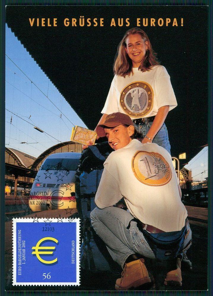 BUND MK 2002 EURO-EINFÜHRUNG PRIVATE! MAXIMUMKARTE CARTE MAXIMUM CARD MC bs92