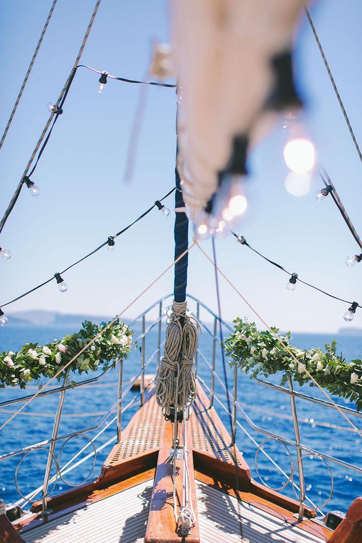 Wedding altar -yacht wedding