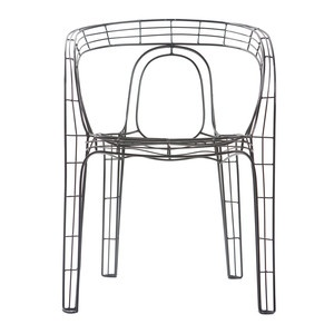 Wire Armchair Black, £119, now featured on Fab.