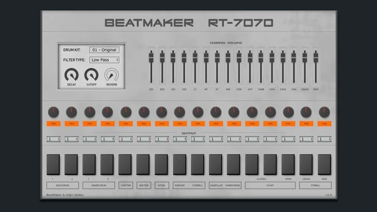 Beatmaker has announced the release of RT-7070, a free VST/AU drum