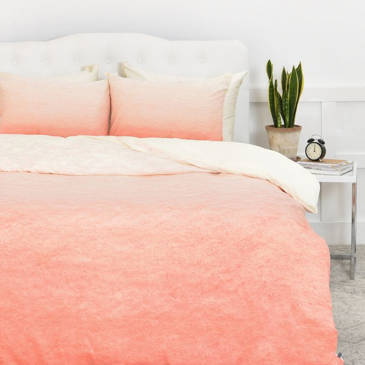 Social Proper Peach Ombre Duvet Cover | DENY Designs Home Accessories