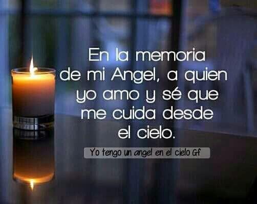 Eternamente... En la memoria de mi Ángel, a quien yo amo y sé que me cuida desde el cielo.
