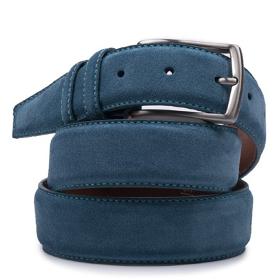 Suede riem: Cobalt Blue by ColorMeSocks™