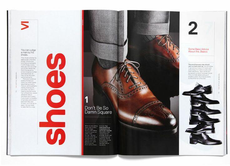 Gq Style Manual Magazine Design Pinterest