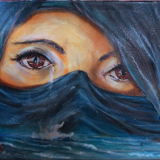 The ocean of tears I Encaustic on canvas size cm: 80 × 60cm painted without brushes Tools: beewax, hotair, sponge, knife, soldering